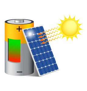 solar panel and battery